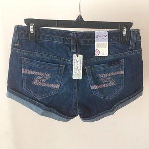 Seven7 Shorts - Seven7 Cuffed Jean Shorts